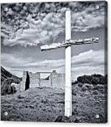Desert Cross Acrylic Print