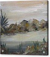 Desert In Monachrome Acrylic Print