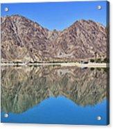 Desert Lake Stillness Acrylic Print