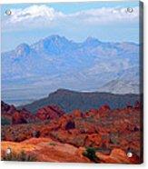 Desert Mountain Vista Acrylic Print