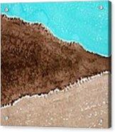 Desert Mountains Original Painting Acrylic Print