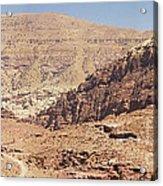 Desert Of Wadi Musa Acrylic Print