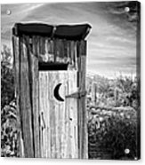 Desert Outhouse Under Stormy Skies Acrylic Print