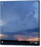 Desert Rainstorm 2 Acrylic Print by Kerri Mortenson