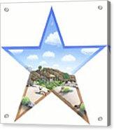 Desert Star Acrylic Print