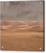 Great Sand Dunes Approaching Storm Acrylic Print