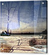 Desert Tracks Acrylic Print