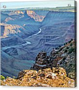 Desert View-morning Acrylic Print by Paul Krapf