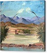 Desert Water Tank Acrylic Print