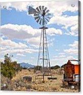 Desert Windmill Acrylic Print