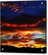 Desert Winter Sunset  Acrylic Print