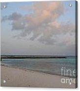 Deserted Aruba Beach Acrylic Print