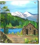 Deserted Cabin Acrylic Print