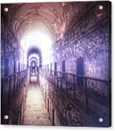 Deserted Prison Hallway Acrylic Print