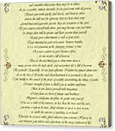 Desiderata Gold Bond Scrolled Acrylic Print by Movie Poster Prints