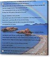Desiderata On Beach Scene With Rainbow Acrylic Print