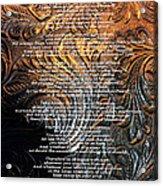 Desiderata On Gold Acrylic Print