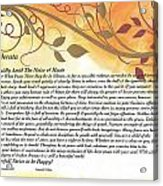 Desiderata On Golden Leaves Acrylic Print