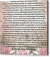 Desiderata On Lotus Watercolor Acrylic Print