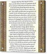 Desiderata Poem By Max Ehrmann Acrylic Print