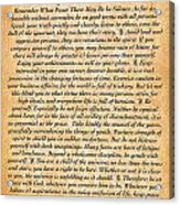Desiderata Poster On Antique Embossed Wood Paper Acrylic Print