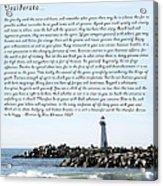 Desiderata Santa Cruz Lighthouse Acrylic Print