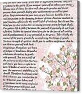 Desiderta Poem On Cherry Blossom Acrylic Print