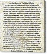 Desiderta Poem On Tuscan Marble Acrylic Print