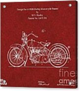 Original Design For A 1928 Harley Motorcycle Acrylic Print
