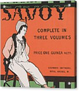 Design For The Front Cover Of 'the Savoy Complete In Three Volumes' Acrylic Print