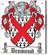 Desmond Coat Of Arms Irish Acrylic Print