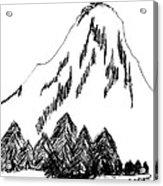 Desolation Peak_alone Time Acrylic Print