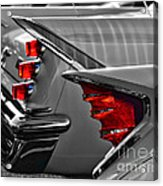 Desoto Red Tail Lights In Black And White Acrylic Print