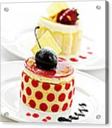 Desserts Acrylic Print