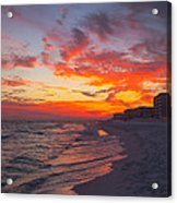 Destin Sunset Acrylic Print by Kay Pickens