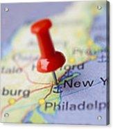 Destination To New York Acrylic Print