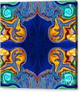 Destiny Unfolding Into An Abstract Pattern Acrylic Print