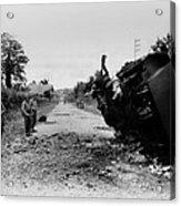 Destroyed U.s. Tank At La Acrylic Print