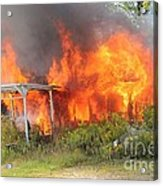 Destructive Fire Acrylic Print