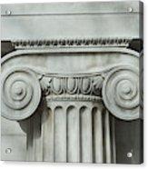 Detail an ionic column Acrylic Print