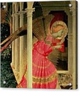 Detail From The Annunciation Showing The Angel Gabriel Acrylic Print