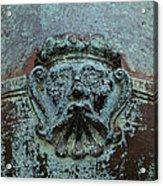 Detail Of A Bronze Mortar Acrylic Print