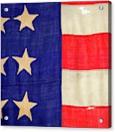 Detail Of A Civil War Flag In Drummer Acrylic Print