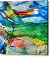 Detail Of Abstract Watercolor Painting Acrylic Print