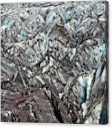 Detail Of Icelandic Glacier Acrylic Print