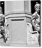 Detail Of Monument Statues - Bw Acrylic Print