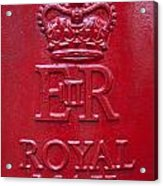 Detail Of Old Royak Mail Post Box Acrylic Print
