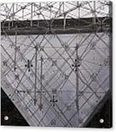 Detail Of Pei Pyramid At Louvre Paris France Acrylic Print