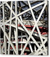 Detail Of The Beijing National Stadium Acrylic Print by Brendan Reals