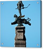 Detailed Images Of Statues In Almaty Acrylic Print